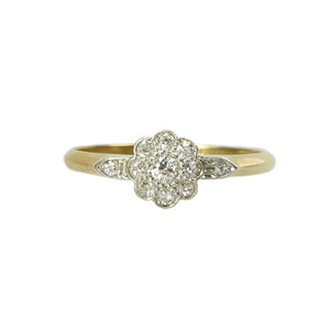 A Diamond Flower Engagement Ring - Gem Set Love