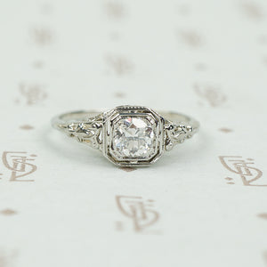 Perfect Deco Filigree Engagement Ring