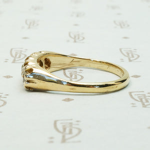 1880's Five OMC Diamond Gold Band