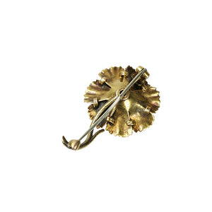 Antique Poppy Brooch in Gold