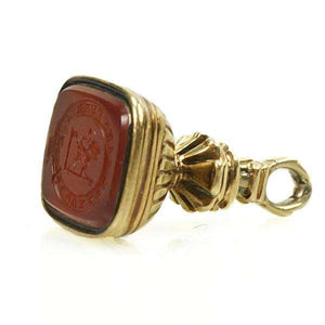 Carnelian Gold Fob in Neoclassical Style