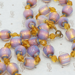 Vintage Venetian Foiled Lamp Wound Beads