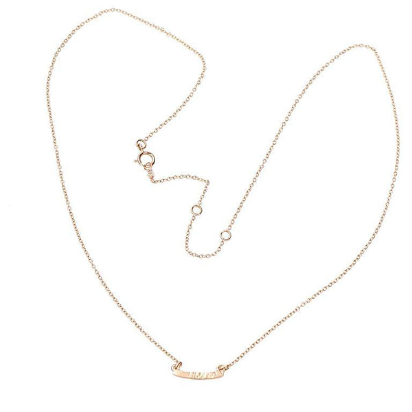 The Hammered Gold Bar Necklace by brunet