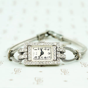 french platinum diamond encrusted ladies watch 1910