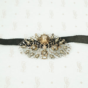 18thc French Provencial Ribbon Slide Necklace