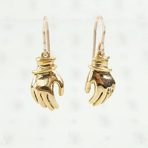 Frida earrings in 14k gold and diamond by 720