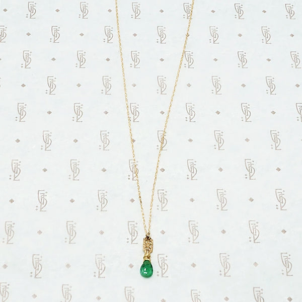 Emerald and Gold Filigree Necklace by brunet