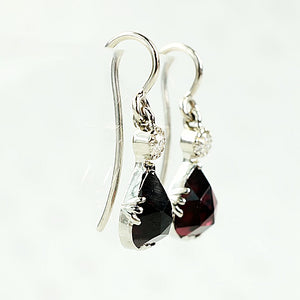 rose cur garnet earrings