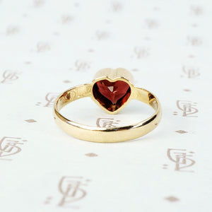 The Garnet Heart Ring by 720 for GSL