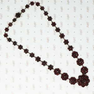 antique rose cut garnet necklace bohemian