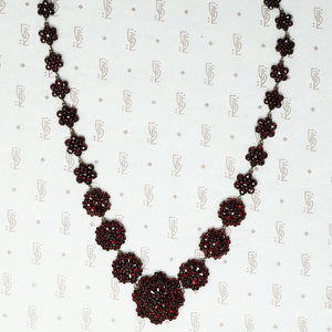 antique rose cut garnet necklace