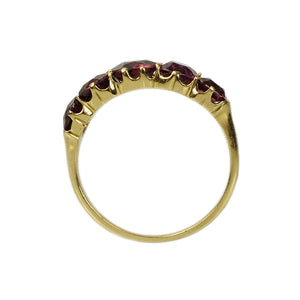 Early 1800's Garnet Half Hoop Band