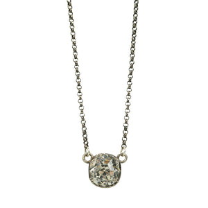 Georgian Cushion Cut Crystal Pendant - Gem Set Love