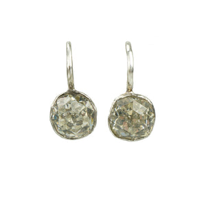 Georgian Cushion Cut Crystal Drop Earrings - Gem Set Love
