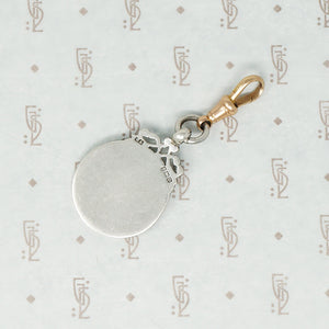 gold and silver sports fob on 9ct hook
