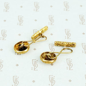 Mid Century 14k Gold Cuff Links