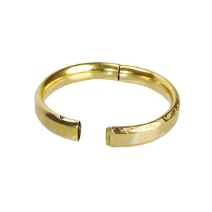 Classic Vintage Hinged Gold Filled Bangle - Gem Set Love