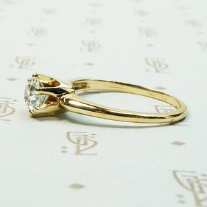 Lovely Gold OEC Diamond Solitaire