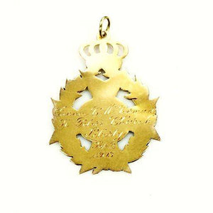 Antique 14k Yellow Gold Pendant Fob dated 1903