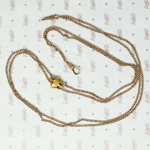 greenman slide gold chain back
