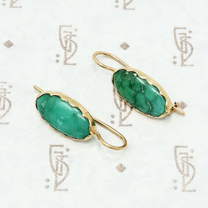 vintage green turquoise in recycled gold
