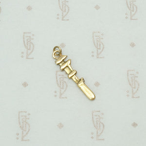 Petite Pipe Wrench Gold Charm