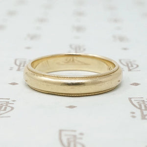 Vintage Gold Band with Milgrain Edge