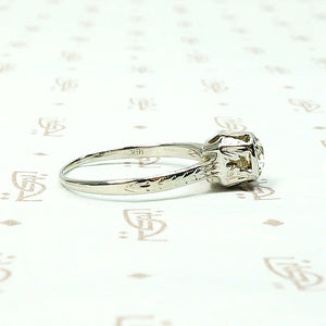 Delicate Deco Diamond Solitaire by Belias