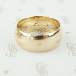 18k wedding band halloween size 9