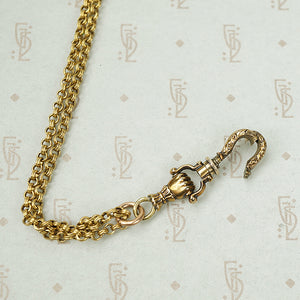 The Fancy Hand Gold Swivel Necklace