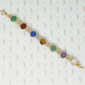 gold filled and hardstone scarab bracelet back