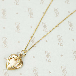 The Daisy Chained Heart Necklace