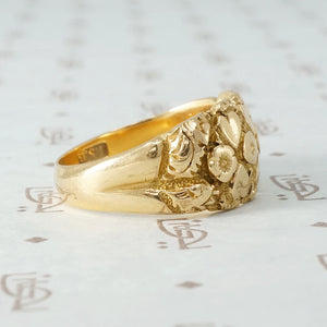 Edwardian Hearts and Daisies Keeper Ring