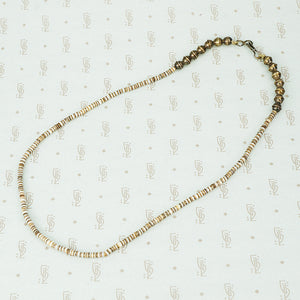 heishi beads and sterling bead necklace