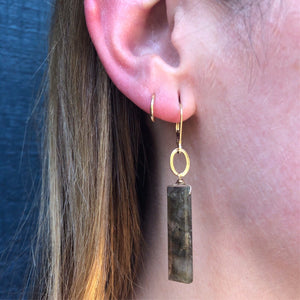 Labradorite Pillar Earrings by brunet