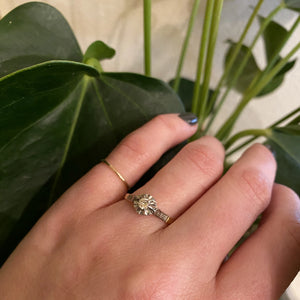 Edwardian Engagement Ring Platinum on 18k