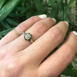 Old Mine Cushion Solitaire Engagement Ring