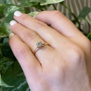 Vintage Yellow Gold Diamond Solitaire Engagement Ring