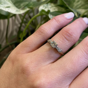 White Gold 1940's Diamond Engagement Ring