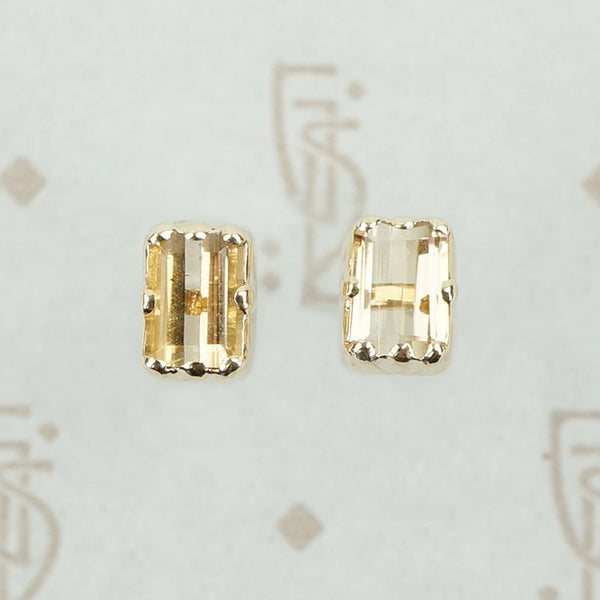 Antique Imperial Topaz Stud Earrings