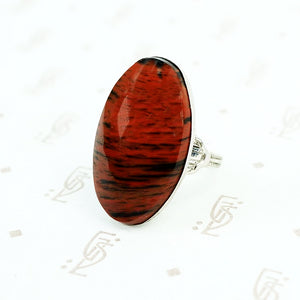 vintage jasper and sterling silver ring