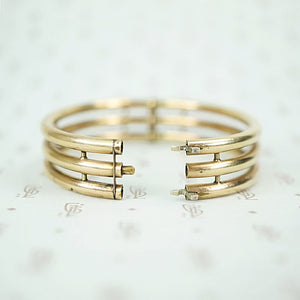 1900s Three Bar Gold Filled Bangle