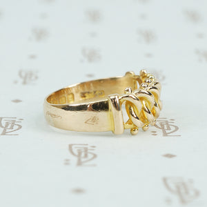 18k gold keeper ring english 1898 side