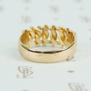 18k gold keeper ring english 1898 back
