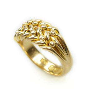 Victorian Keeper Band 18k Gold