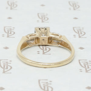 Pretty and Pristine NOS Diamond Engagement Ring