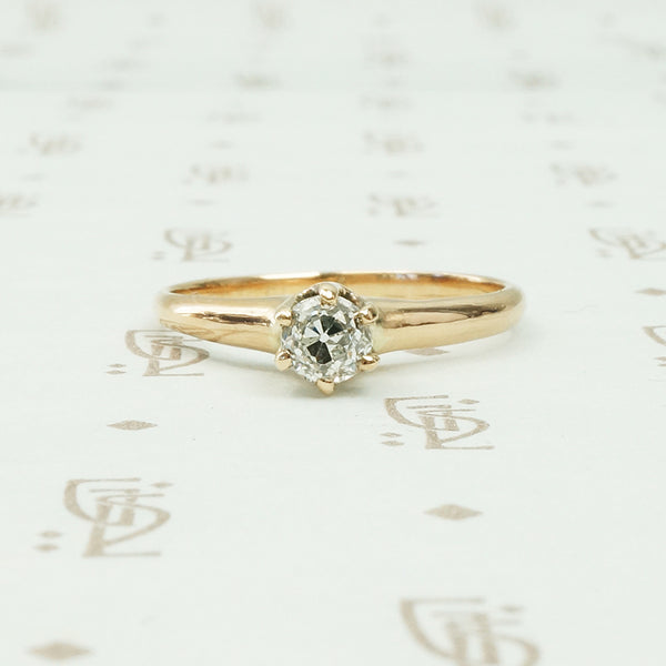 omc diamond solitaire yellow gold 6 prong solitaire engagement ring