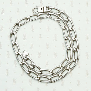 Vintage Italian Lorenzo Curb Chain Necklace