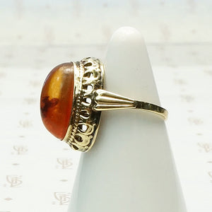 1950s Russian Amber Ring