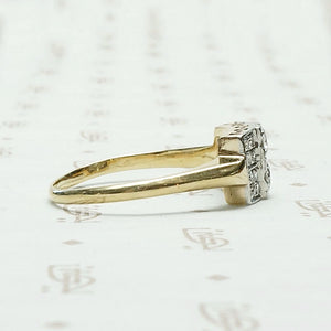 Gorgeous Geometric Two Tone Diamond Ring